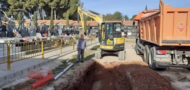 """[Comienzan las obras de construcción de 20 nuevas fosas en el Cementerio Municipal """"Nuestra Señora del Carmen"""" de Totana"""