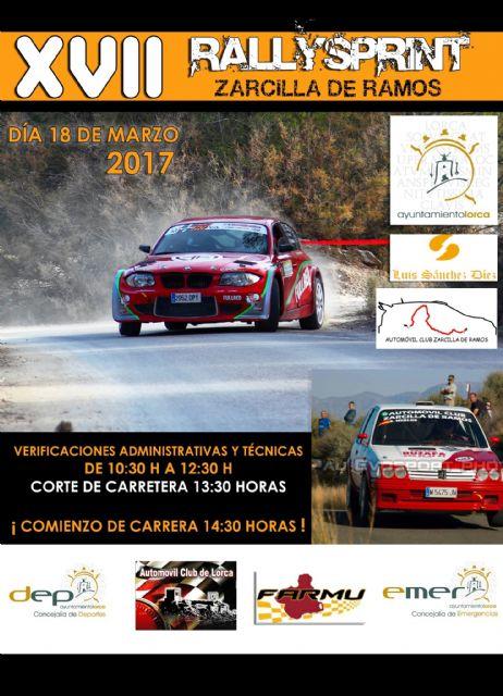 Zarcilla de Ramos acoge mañana el XVII Rallysprint - 1, Foto 1