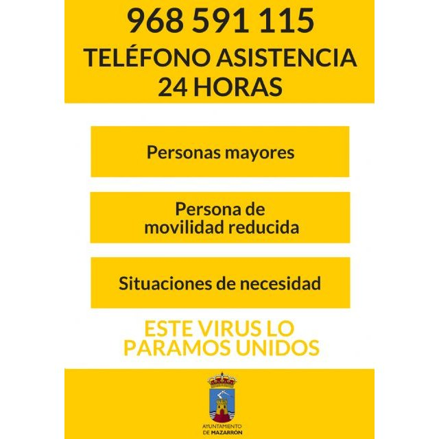 Se habilita 24 horas el teléfono 968 59 11 15 para la atención de mayores y personas con movilidad reducida - 1, Foto 1