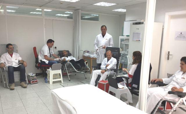 Los trabajadores de ElPozo Alimentación se vuelcan en la donación de sangre, Foto 1