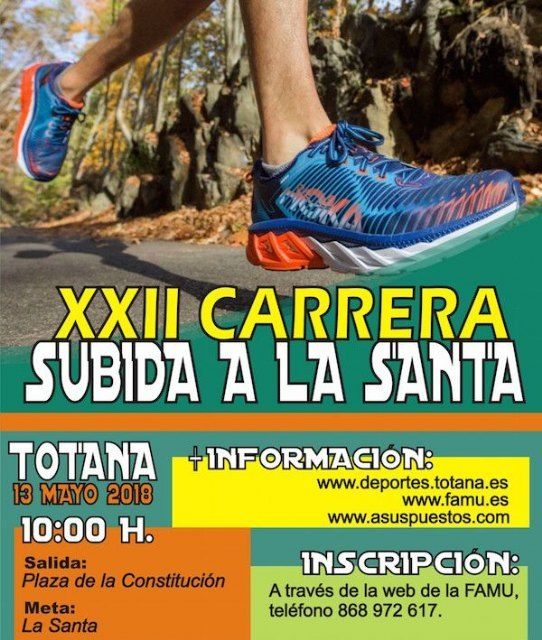 The XXII Race Ride to La Santa de Totana will be held on Sunday, May 13