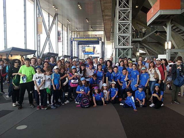 Viaje al Mutua Madrid Open 2018 de la Escuela de Tenis Kuore de Totana