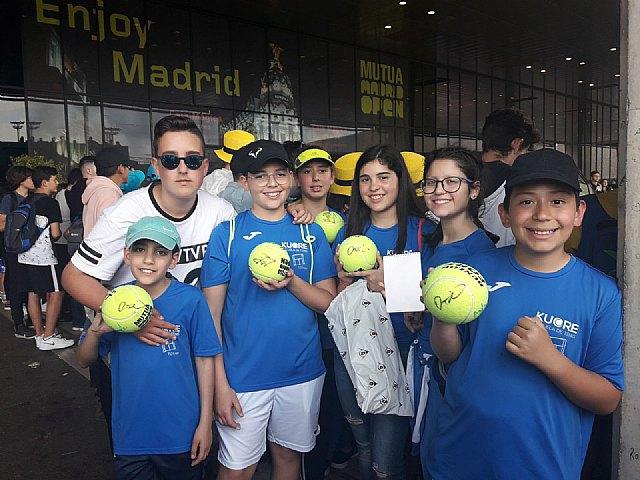 Viaje al Mutua Madrid Open 2018 de la Escuela de Tenis Kuore de Totana, Foto 2