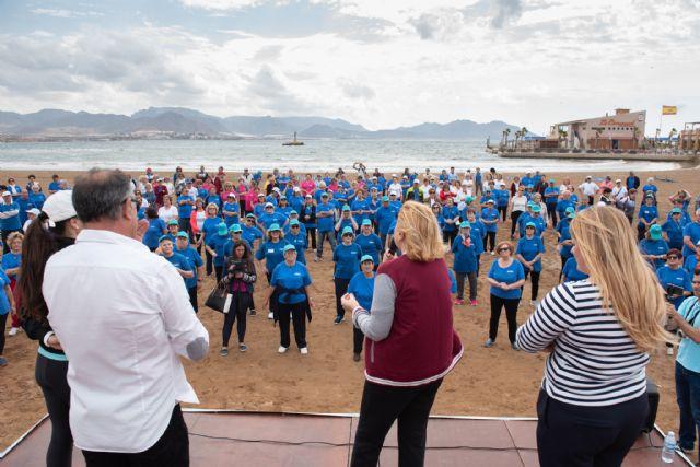 500 mayores se dan cita en Puerto de Mazarrón para participar en un encuentro de gerontogimnasia - 2, Foto 2