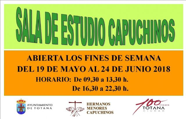 "The old Center for the Elderly ""Santa Bárbara"" will be enabled as a Study Room during the weekends from May 19 to June 24 - 2"