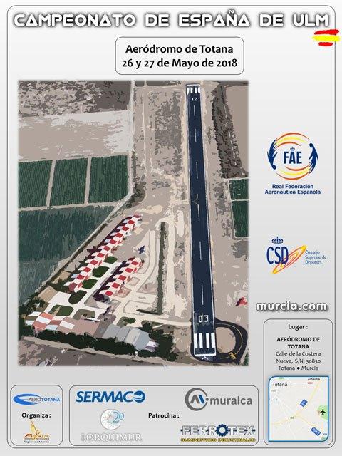 Totana will host the Spanish Championship of ulm (ultralight aviation)