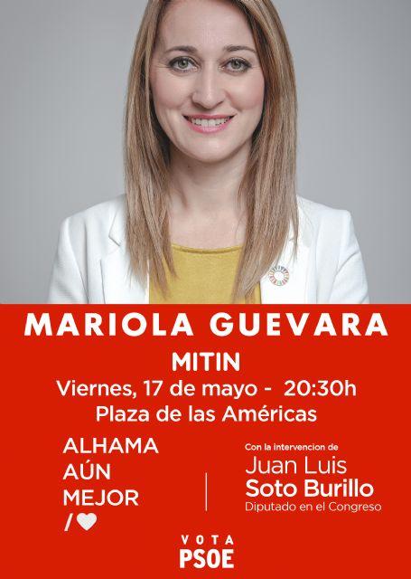 Mariola Guevara intervendrá en el mitin del PSOE en la Plaza de las Américas, Foto 1