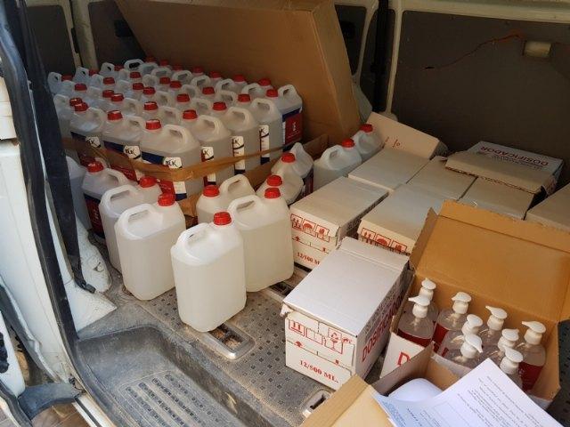 Comercio y Hostelería ya ha repartido gel hidroalcohólico a cerca de 200 negocios locales, Foto 1