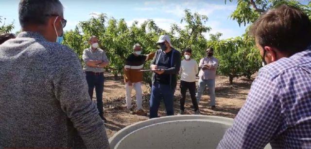 Más de una veintena de técnicos agrícolas valencianos visitan fincas experimentales de Murcia donde se estudia el cambio climático - 1, Foto 1