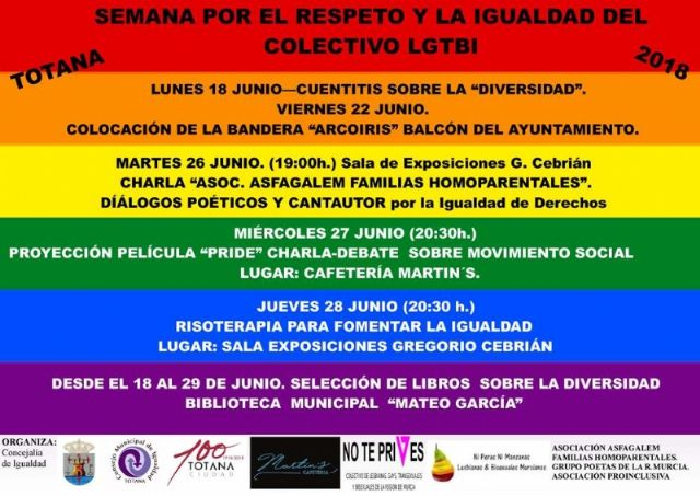 Tomorrow starts the program of activities of the Week for Respect and Equality of LGTBI Collective