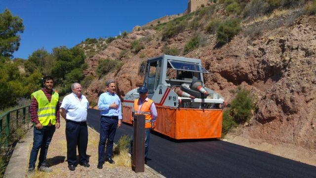 Finaliza el asfaltado de la vía alternativa de acceso al Castillo de Lorca - 1, Foto 1