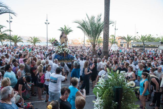 Multitudinario homenaje a la Virgen Marinera en Puerto de Mazarrón - 4, Foto 4