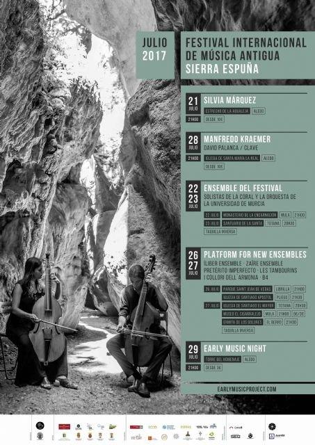 El Festival de Música Antigua de Sierra Espuña arrancará el 21 de julio con conciertos, talleres para niños y la velada #EarlyMusicNight, Foto 2