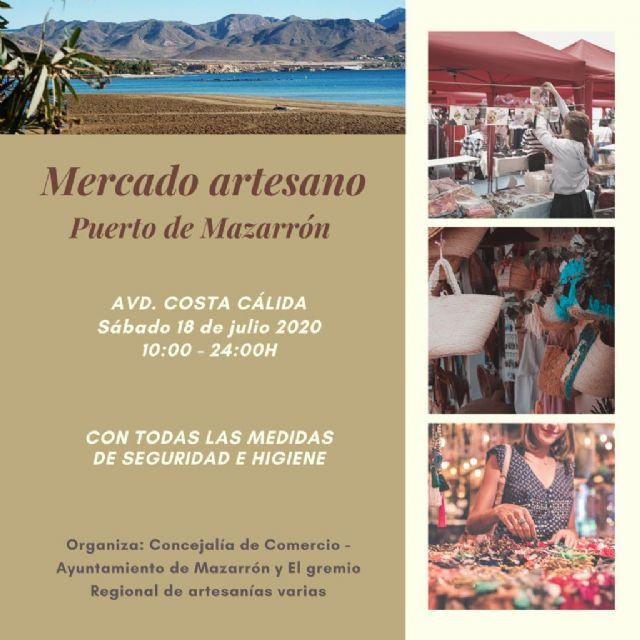 El Mercado Artesano regresa este sábado a Puerto de Mazarrón en una nueva ubicación, Foto 1