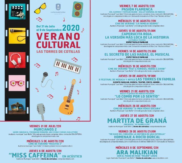 El Ayuntamiento torreño presenta un programa cultural lleno de música, cine y teatro para las noches de verano - 1, Foto 1