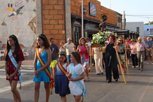 Las fiesta de El Mojón culminan con la procesión de San Roque - 1, Foto 1