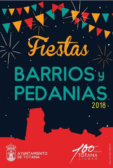 Continúa el calendario de festejos en barrios y pedanías programado para este verano en Totana
