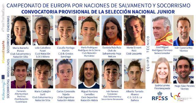 Socorristas de diez clubes forman la convocatoria provisional de la Selección nacional junior para el Europeo de Salvamento y Socorrismo - 1, Foto 1