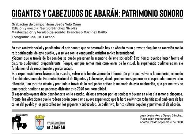 Gigantes y cabezudos de Abarán: patrimonio sonoro - 2, Foto 2