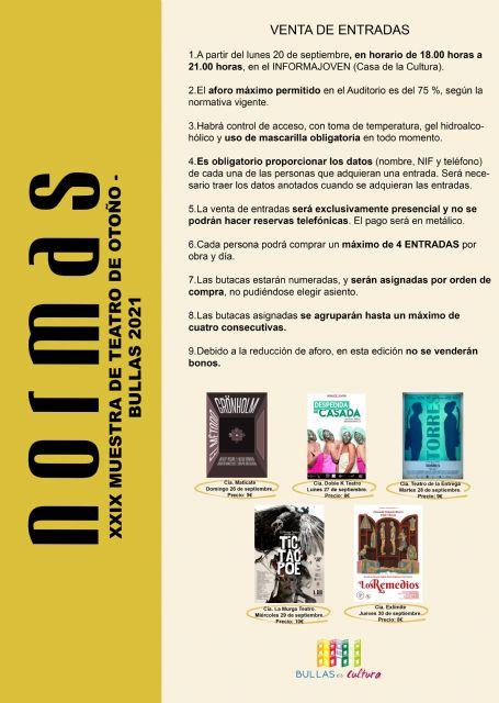 Bullas celebra la XXIX Muestra de Teatro en Otoño con grandes compañías - 1, Foto 1