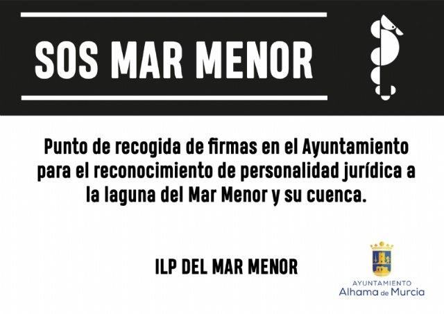 El Ayuntamiento de Alhama, punto de recogida de firmas para la ILP del Mar Menor - 1, Foto 1