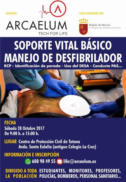 Se organiza un Curso de Soporte Vital Básico (SVB) con manejo y uso de desfibriladores semiautomáticos externos (DESA)