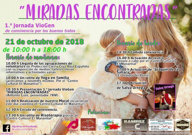 Las primeras jornadas VioGen, Miradas Encontradas se celebrarán el próximo domingo 21 en La Matanza, Fortuna - 2, Foto 2