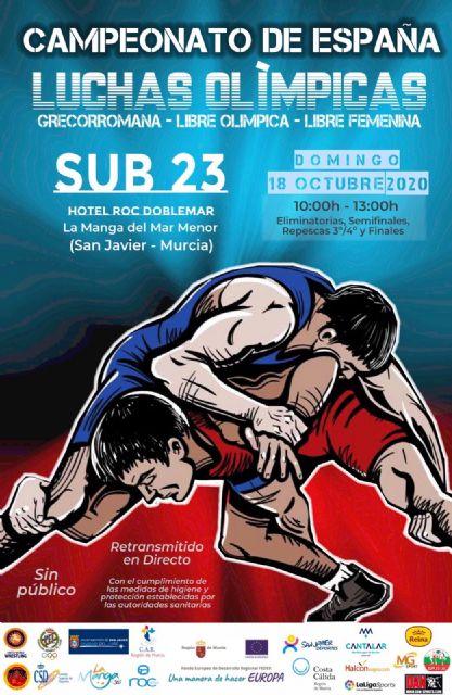 Los Campeonatos de España de Lucha Olímpica dejarán este fin de semana en La Manga medio millar de pernoctaciones - 1, Foto 1