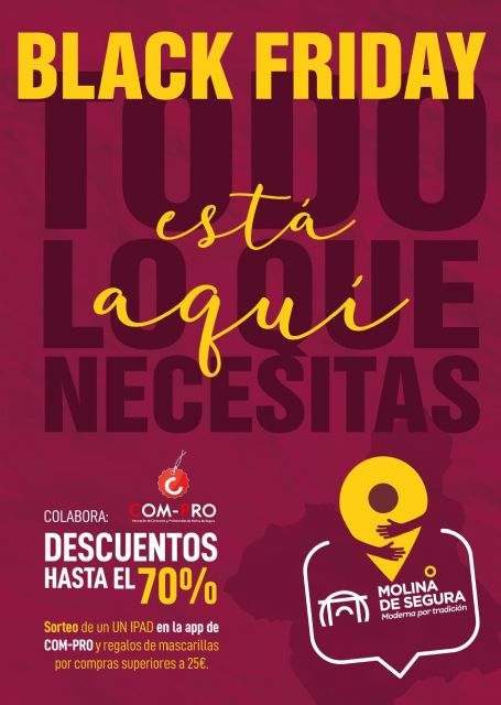 El Ayuntamiento de Molina de Segura pone en marcha la campaña de comunicación BLACK FRIDAY 2020 para promocionar el comercio minorista local - 1, Foto 1