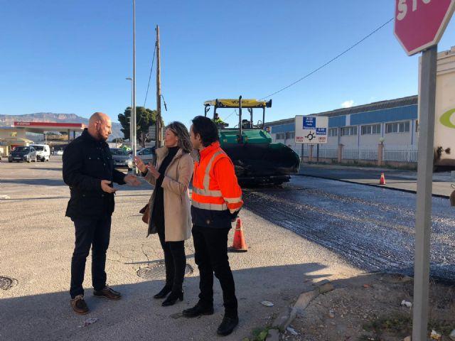 Fomento continúa con las obras de mejora de la seguridad vial del principal acceso de Blanca desde la autovía A-30 - 1, Foto 1