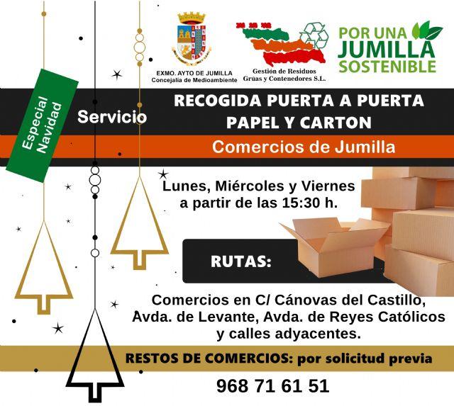 Medio Ambiente refuerza en Navidad el servicio de recogida de papel y cartón en los comercios - 1, Foto 1