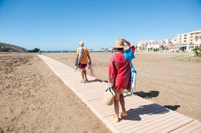 El Ministerio de Medio Ambiente recuperará las playas de Mazarrón afectadas por el temporal - 1, Foto 1