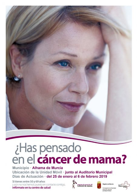 Programa de prevención del Cáncer de Mama: del 25 de enero al 6 de febrero de 2019, Foto 1