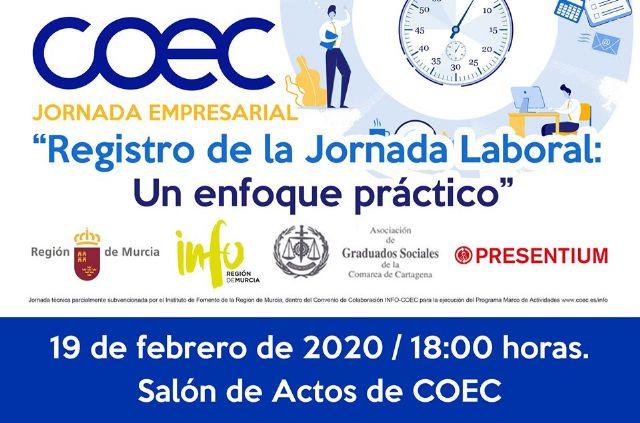 COEC organiza dos jornadas técnicas en Cartagena y Fuente Álamo sobre la nueva regulación de control horario - 1, Foto 1
