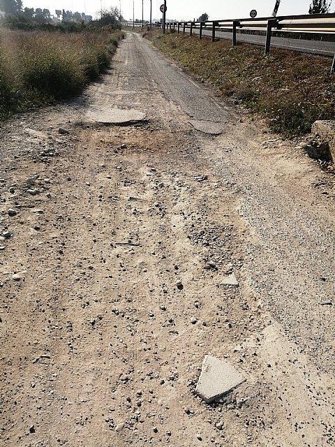 El PP preguntará en el Pleno al Equipo de Gobierno cuándo piensa arreglar las vías de servicio de la N344 - 1, Foto 1
