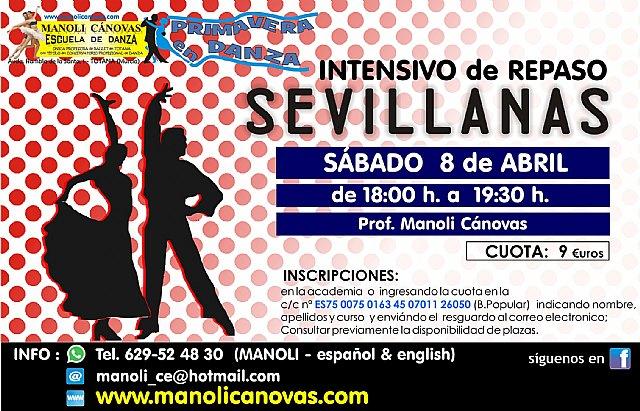 Salsa-bachata y sevillanas, los nuevos cursos que ofrece la Escuela de Danza Manoli Cánovas para el mes de abril, Foto 1