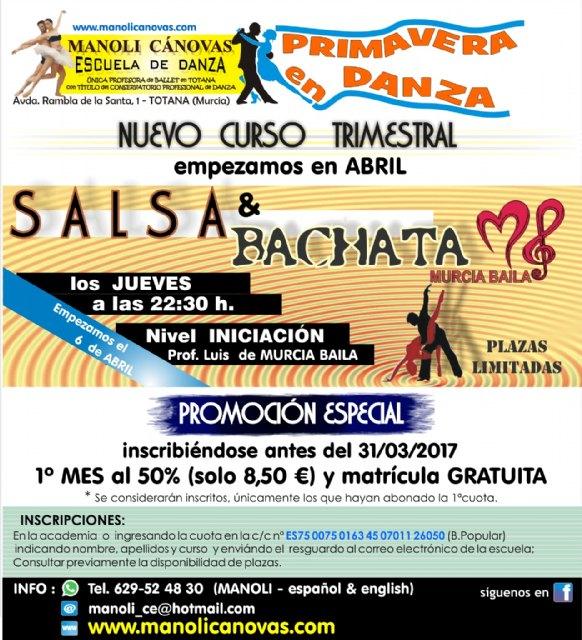 Salsa-bachata y sevillanas, los nuevos cursos que ofrece la Escuela de Danza Manoli Cánovas para el mes de abril, Foto 2