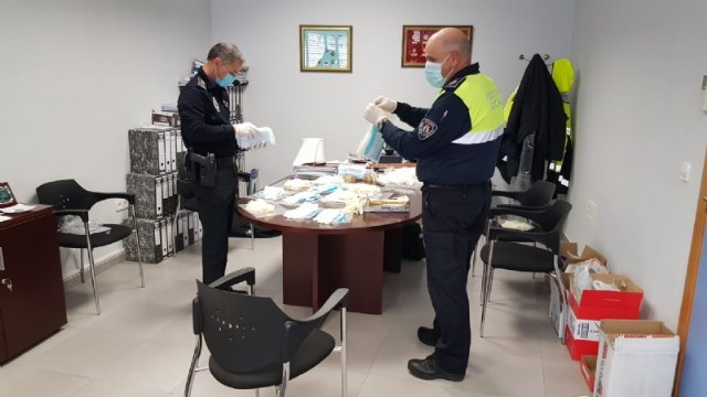 The Local Police are grateful for the numerous donations of protection material by the Chinese community, companies and individuals