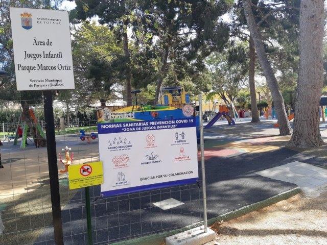 Se reabre desde hoy la zona de juegos infantil del Parque Municipal