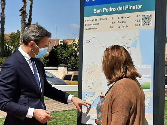 Turismo comienza en San Pedro del Pinatar la señalización de la ruta cicloturista EuroVelo - 1, Foto 1