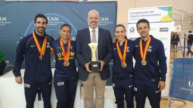Cinco oros para la UCAM en el Campeonato de España Universitario de bádminton - 1, Foto 1