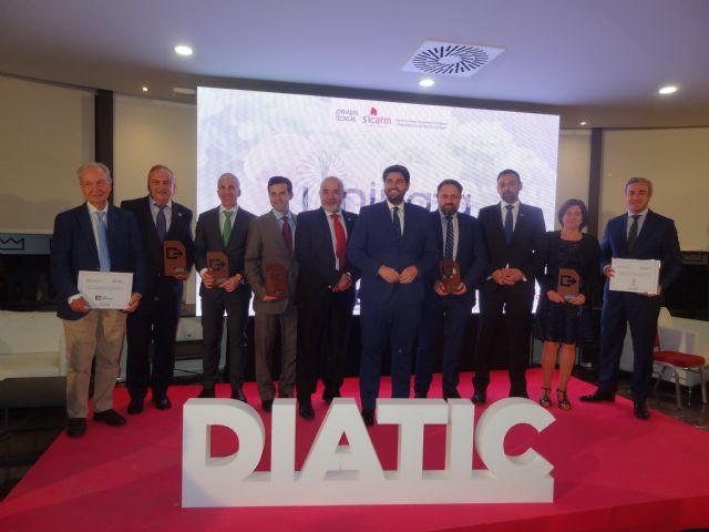 El jefe de Sistemas Informáticos del Puerto de Cartagena y los directivos de las empresas tecnológicas murcianas Odilo y Metaenlace se llevan los premios DIATIC 2019 - 1, Foto 1