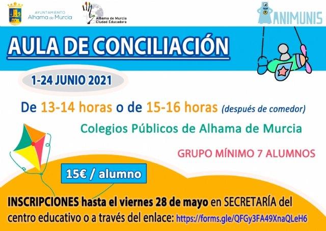 Abierto el plazo de inscripción para el aula de conciliación durante el mes de junio - 1, Foto 1