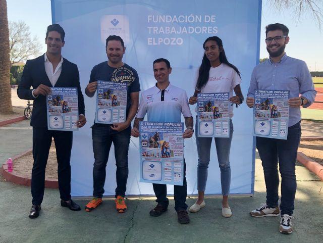 La Fundación de Trabajadores de ELPOZO patrocina y da nombre al Trofeo del X Triatlón Popular Villa de Alhama y de la Mujer por tercer año consecutivo, Foto 4
