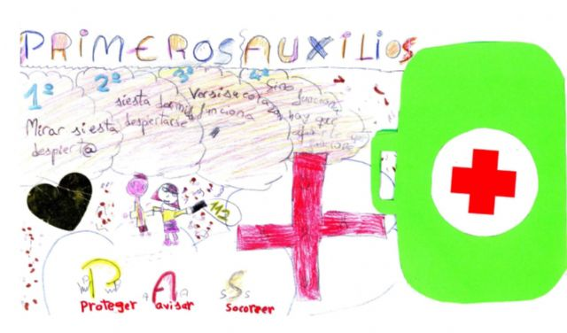 Alumnos de los colegios Luis Costa, y Santa Rosa de Lima y del instituto Licenciado Francisco Cascales ganan el II concurso 'Yo pinto en salud' - 1, Foto 1
