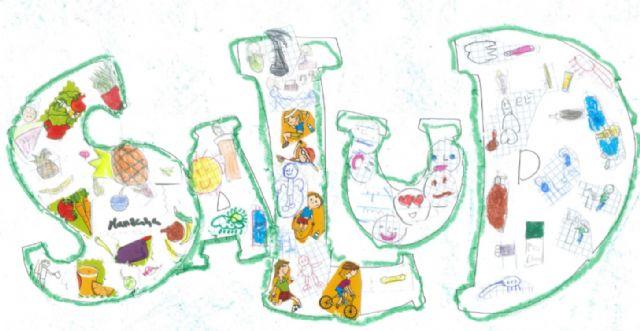 Alumnos de los colegios Luis Costa, y Santa Rosa de Lima y del instituto Licenciado Francisco Cascales ganan el II concurso 'Yo pinto en salud' - 2, Foto 2