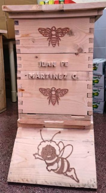 Internos en la cárcel de Campos del Río construyen un panal para propiciar una colonia de abejas y favorecer la polinización - 1, Foto 1