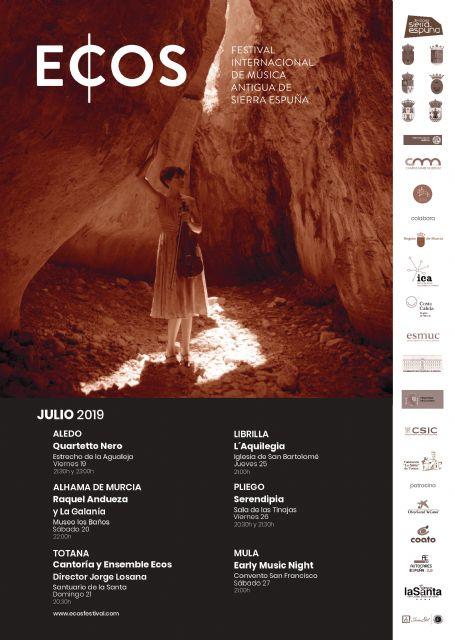 El Festival Internacional de Música Antigua, ECOS de Sierra Espuña, cuelga el cartel de