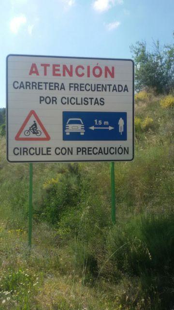 Se solicita la colocación de la señalización necesaria de peligro y advertencia en varias carreteras de Totana muy frecuentadas por ciclistas - 5, Foto 5