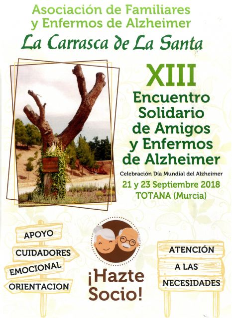 "The Association of Relatives and Alzheimer's Patients ""La Carrasca de La Santa"" organizes the XIII Solidarity Meeting from September 21 to 23"